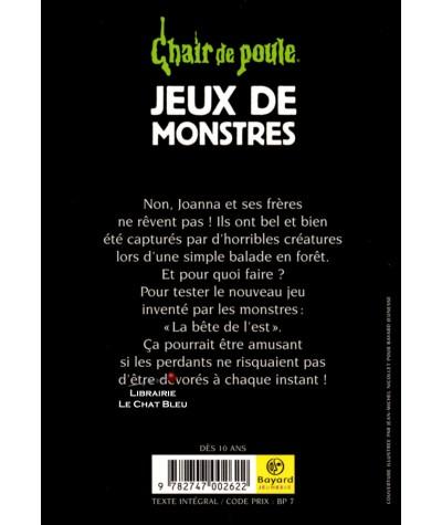 Chair de poule T36 : Jeux de monstres (R. L. Stine) - Bayard Jeunesse