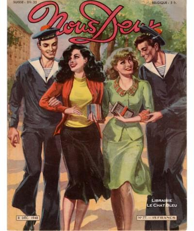 Magazine Nous Deux n° 77 paru le 8 Décembre 1948