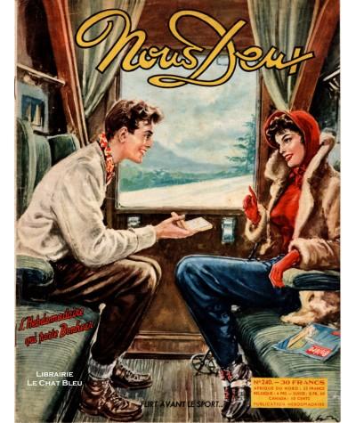 Magazine Nous Deux n° 240 paru en 1952 : Flirt avant le sport…