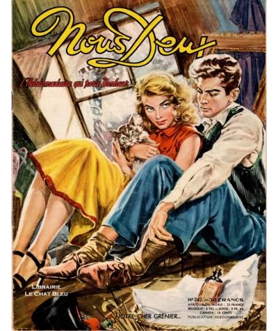 Magazine Nous Deux n° 242 paru en 1952 : Notre cher grenier…