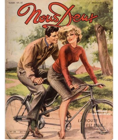 Magazine Nous Deux n° 120 paru en 1949 : La route est belle…