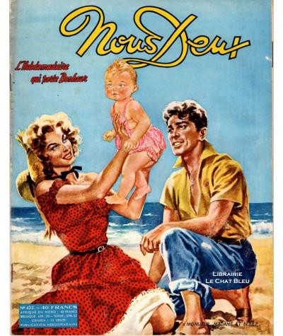 Magazine Nous Deux n° 422 paru en 1955 : « Monsieur, Madame et bébé »
