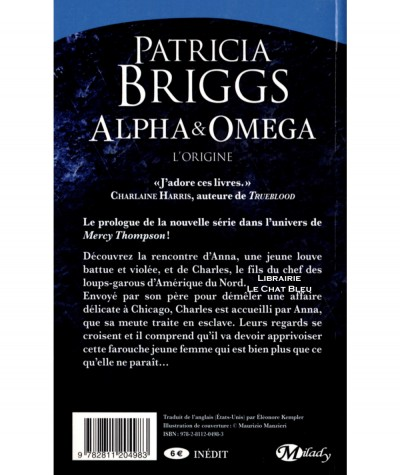 Alpha & Omega : L'origine (Patricia Briggs) - Collection Bit-Lit - Editions Milady