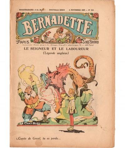 Revue Bernadette N° 514 du 5 novembre 1939 : Le seigneur et le laboureur