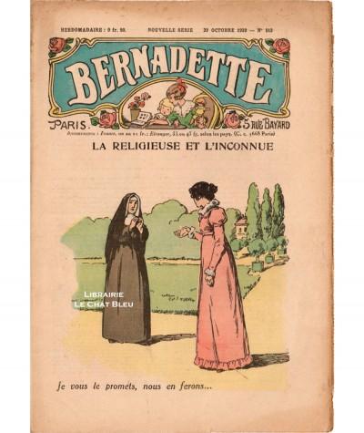 Revue Bernadette N° 513 du 29 octobre 1939 : La religieuse et l'inconnue