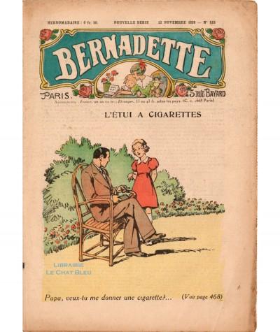 Revue Bernadette N° 515 du 12 novembre 1939 : L'étui à cigarettes