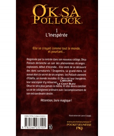 OKSA POLLOCK T1 : L'inespérée (Anne Plichota, Cendrine Wolf) - Pocket Jeunesse N° 2481