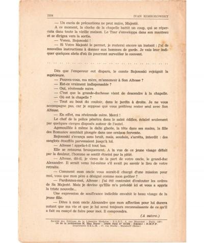 SONIA, La déportée de Sibérie (Ivan Kossorowsky) - Fascicule N° 194