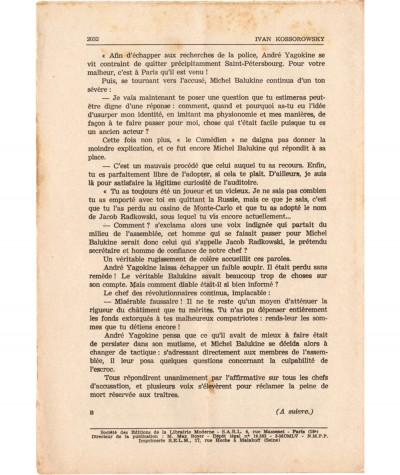 SONIA, La déportée de Sibérie (Ivan Kossorowsky) - Fascicule N° 127