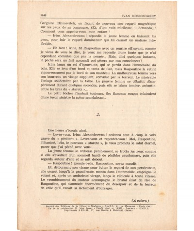 SONIA, La déportée de Sibérie (Ivan Kossorowsky) - Fascicule N° 103