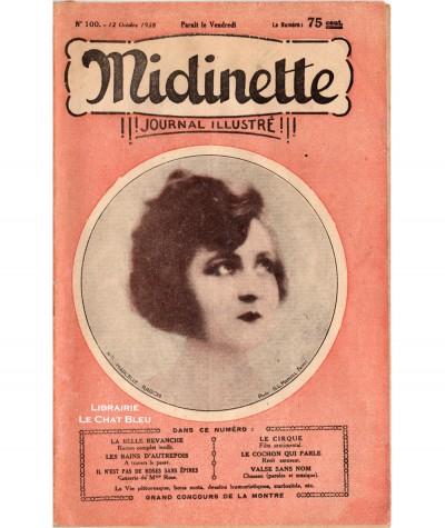 Journal illustré Midinette n° 100 du 12 octobre 1928 - Melle Marcel Ragon en couverture