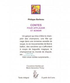Contes pour applaudir et bondir (Philippe Barbeau) - Editions Lire C'est Partir
