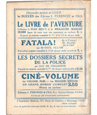 L'épreuve sentimentale (C. Fongrave) - Le Petit Livre Ferenczi N° 922