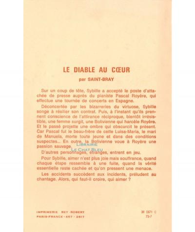 Le diable au coeur (Saint-Bray) - Editions Tallandier