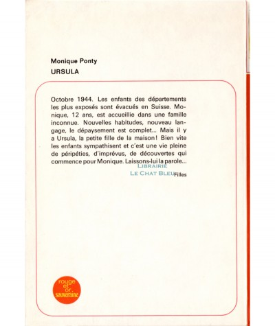Ursula (Monique Ponty) - Bibliothèque Rouge et Or Souveraine N° 2.748