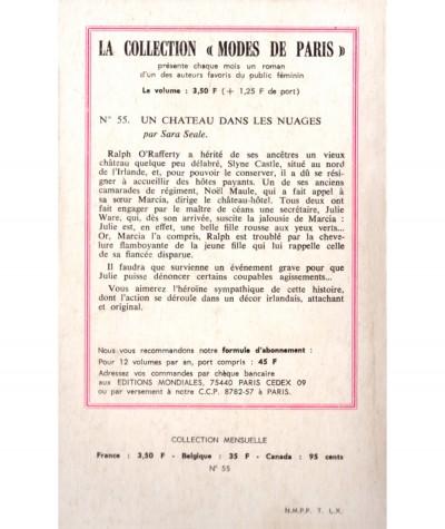 Un château dans les nuages (Sara Seale) - Modes de Paris N° 55