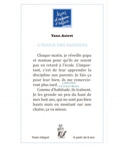 L'école des parents (Yann Autret) - Editions Lire c'est partir