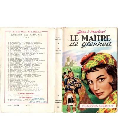 Le maître de Glenkeit (Jean Sue Macleod) - Mirabelle N° 84 - Editions des Remparts