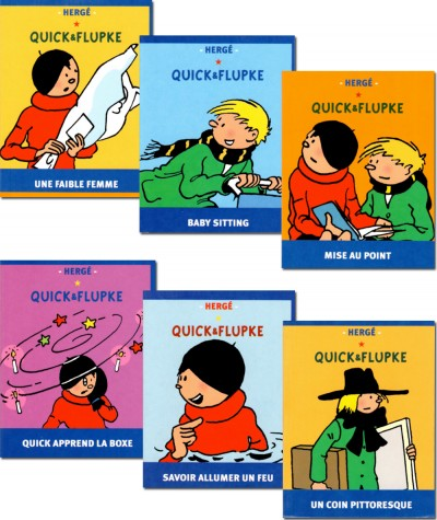 Extrait de Quick & Flupke en format mini (Hergé) : Savoir allumer un feu  - Editions Casterman