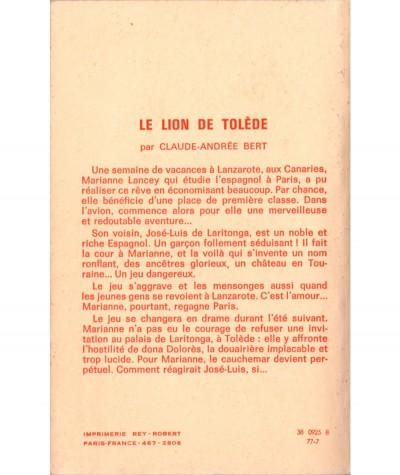Le Lion de Tolède (Claude-Andrée Bert) - Editions Tallandier