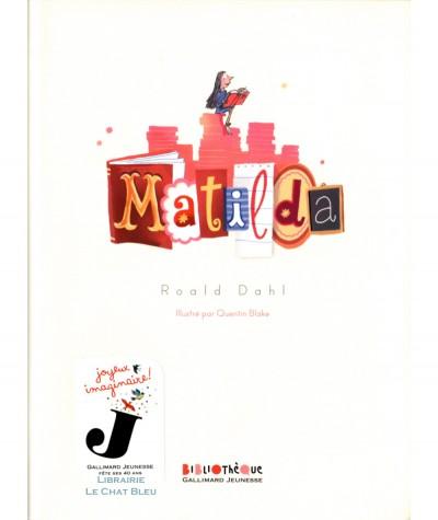 Matilda (Roald Dahl) - GALLIMARD Jeunesse