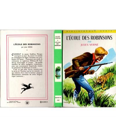 L'école des Robinsons (Jules Verne) - Bibliothèque verte N° 187 - Hachette