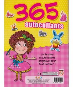 365 autocollants spécial filles - Cahier de stickers - Editions LLC