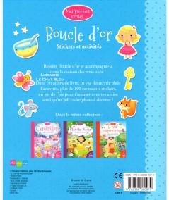 Mes premiers contes : Boucle d'or - Stickers et activités - Editions Kimane
