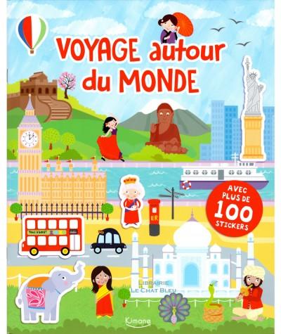 Voyage autour du monde : Livre de stickers - Editions Kimane