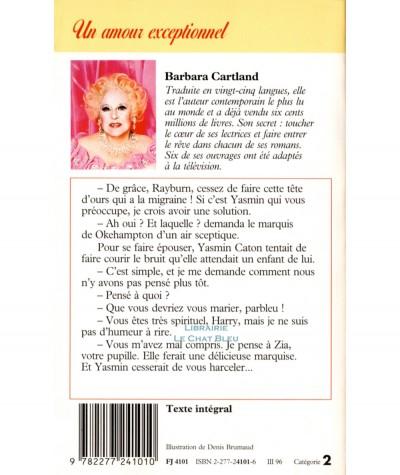 Un amour exceptionnel (Barbara Cartland) - J'ai lu N° 4101