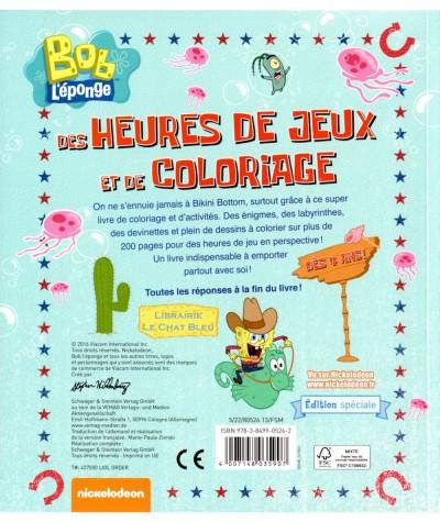 Mon grand livre de coloriage Bob L'éponge - Dès 4 ans