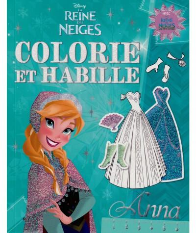 La Reine des Neiges (Walt Disney) : Colorie et habille Anna - Hachette Jeunesse