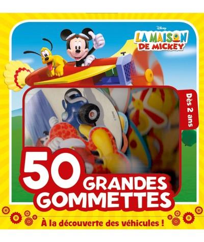 La maison de Mickey (Disney) : À la découverte des véhicules ! - 50 grandes gommettes - Hachette Jeunesse