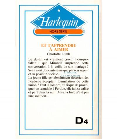 Et t'apprendre à aimer (Charlotte Lamb) - Collection Harlequin N° HS