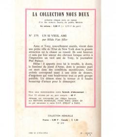 Un si vieil ami (Hilda Van Siller) - Nous Deux N° 379 - Les Editions Mondiales