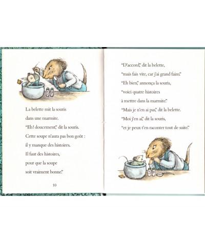 La soupe à la souris (Arnold Lobel) - Pages 10 et 11 - Collection La joie de lire - L'école des loisirs