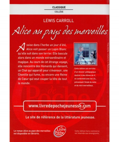 Alice au pays des merveilles (Alice Carroll) - Edition pour les enseignants - Le livre de poche N° 1448
