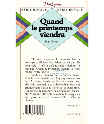 Quand le printemps viendra (Jean Evans) - Harlequin Série Royale N° 91