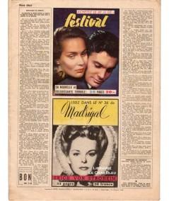 Magazine Nous Deux n° 116 paru le 6 septembre 1949 : Lune de miel