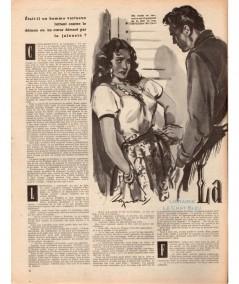 Magazine Nous Deux n° 220 paru en 1951 (Page 6) : La jolie sirène