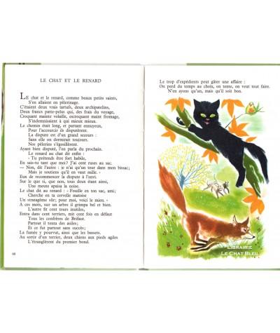 Fables choisies (La Fontaine) : Le Chat et le Renard - Editions BIAS Paris
