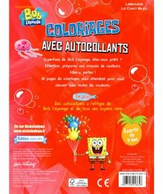 Bob L'éponge : coloriages avec autocollants - À partir de 4 ans