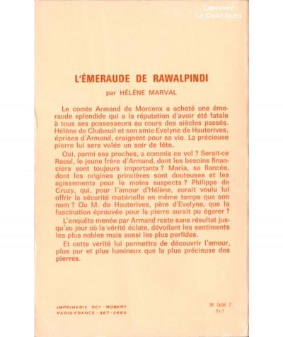 L'émeraude de Rawalpindi (Hélène Marval) - Editions Tallandier