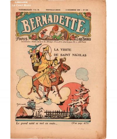 Revue Bernadette N° 518 du 3 décembre 1939 : La visite de Saint Nicolas