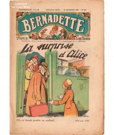 Revue Bernadette N° 522 du 31 décembre 1939 : La surprise d'Alice