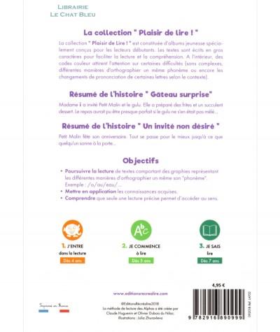 Gâteau surprise + Un invité non désiré (Claude Huguenin) - Plaisir de lire ! - Editions RECREALIRE