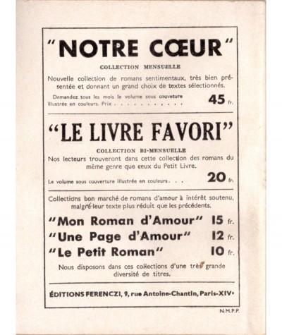 Prisonnière de son destin (Philippe Jean) - Le Petit Livre Ferenczi N° 1712