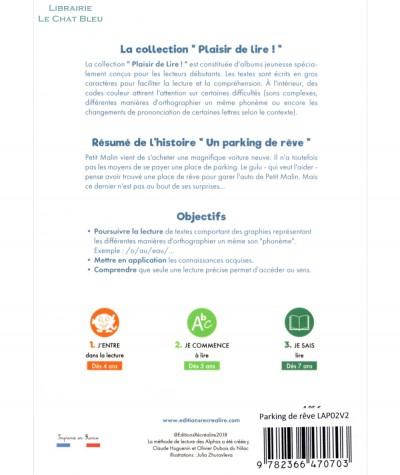 Un parking de rêve (Claude Huguenin) - Plaisir de lire ! - Editions RECREALIRE