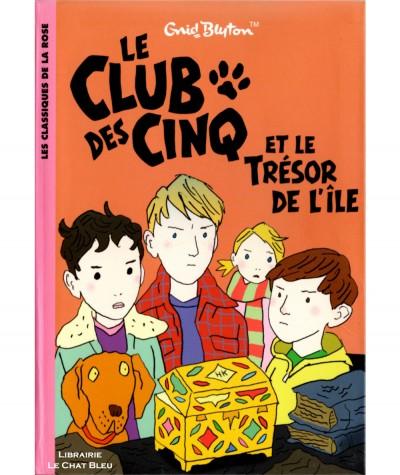Le Club des Cinq et le trésor de l'île (Enid Blyton) - Bibliothèque Rose N° 839 - Hachette