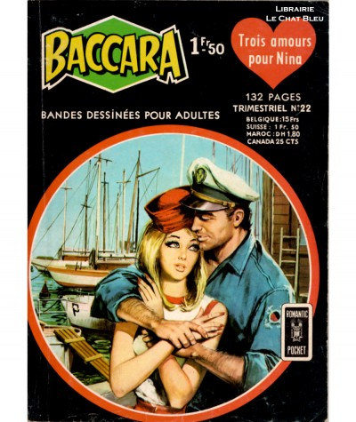 BACCARA N° 22 : Trois amours pour Nina - Aredit - BD petit format